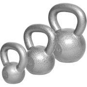 Gorilla Sports - Lot : 3 Kettlebells en fonte classique (4kg, 8kg, 12kg) haltères russes