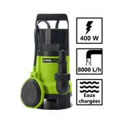 Pompe d?évacuation VITO pour eaux chargées 400W - Vide piscine, eaux de pluie, cave - Câble électrique 10m