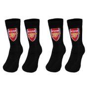 Arsenal FC officiel - 2 paires de chaussettes thème football - enfant/garçon