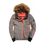 Superdry - Ultimate Snow Service Femmes Manteau de ski (gris/Orange)
