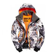 Superdry - Ultimate Snow Service Hommes Manteau de ski (gris/Orange)