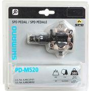 PEDALES Vélo  SHIMANO PAIRE DE PEDALES M520 NOIRE