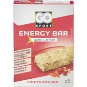 BARRE FRUIT ROUGES 5X20G