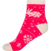 CABIN SOCKS JR PINK RABBIT