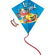 Cerf-volant décoré aux couleurs des personnages Disney. Idéal pour le jardin et / ou la plage. Spécificités : Structure : plastique