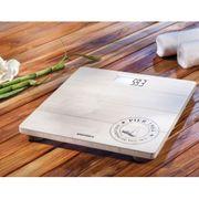 Soehnle Pèse-personne de salle bain Bamboo 180 kg Blanc 63845