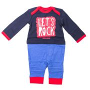 Converse Let's Rock Infant Toddler Baby Kids One Piece Set Blue/Red
