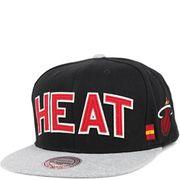 Miami Heat Homme Snapback Basketball Noir Mitchell & Ness