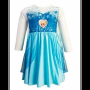 Chemise de nuit Déguisement La reine des neiges  clair - 4 ans bleu