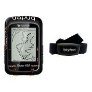 Bryton Rider 450H avec capteur cardiaque noir orange