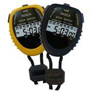 Chronomètre 2 temps - Pile isolée - Coloris jaune - noir