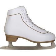 Nijdam Patins classiques en cuir pour femmes Taille 42 0043-WIT-42