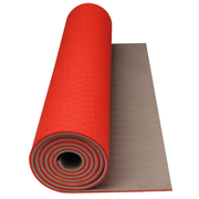 Avento Tapis de yoga fitness orange fluo beige 49fb7b2c150