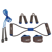 Avento Kit de fitness gris/bleu cobalt/noir 41VE