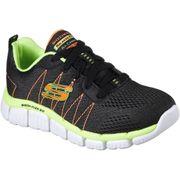 Skechers Boys Skech-Flex 2.0 Quick Pick Lace Up Durable Trainers Shoes