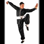 Tenue de kung fu passepoilée - noir Taille - 160cm