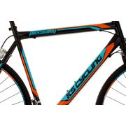 Vélo de Course 28'' Piccadilly noir-orange-bleu TC 59 cm KS Cycling