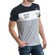 T-shirt homme tricolore broderie aviation