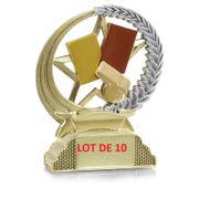 31301 Lot de 10 Trophées résine arbitre 13cm
