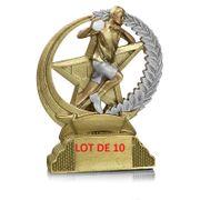 31317 LOT DE 10 TROPHEES RESINE HANDBALL 13CM