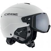 Cebe Élément Visor Casque de ski Matt Blanc / Noir Avec Silver Flash Mirror Cat.3 Visor + Jaune