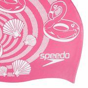 Bonnet de natation Speedo Junior Slogan rose enfant