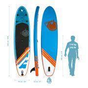 Pack Stand up Paddle LINER 10'6 (320cm) 30'' (76cm) 6'' (15cm) - SUP avec dérive centale et support caméra, livré avec pompe, Pagaie et Sac de transport