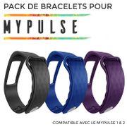 Pack City - 3 Bracelet supplémentaire pour bracelet connecté MyPulse & MyPulse 2