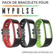 Pack Sport - 3 Bracelet supplémentaire pour bracelet connecté MyPulse & MyPulse 2