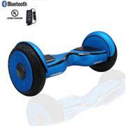 Hoverboard 10 Pouces Bleu Roue Pleine Bluetooth+ sac de transport+ télécommande