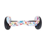 Hoverboard 10 Pouces Graffiti Blanc Tout Terrain Bluetooth+ sac de transport+ télécommande