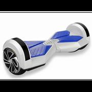 Hoverboard 8 Pouces Blanc pétale bleu Bluetooth+ sac de transport+ télécommande