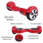 Hoverboard 6,5 Pouces Rouge Bluetooth+ sac de transport+ télécommande