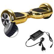 Hoverboard 6,5 Pouces Chromé Doré Bluetooth+ sac de transport+ télécommande