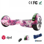 AIR RISE HOVERBOARD 6,5 POUCES LED Camouflage ROSE BLUETOOTH+ SAC+ TÉLÉCOMMANDE
