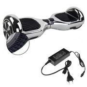Hoverboard 6,5 Pouces Chromé Argenté Bluetooth+ sac de transport+ télécommande