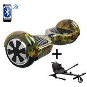 Pack Hoverboard 6,5 Camouflage+ Hoverkart Noir