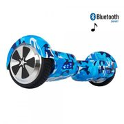 Hoverboard 6,5 Pouces Camouflage Bleu Bluetooth+ sac de transport+ télécommande