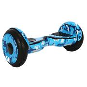 Hoverboard 10 Pouces Camouflage Bleu Tout Terrain Bluetooth+ sac de transport+ télécommande