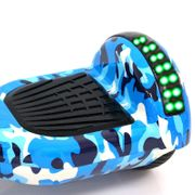 Hoverboard  6,5 Pouces LED Camouflage Bleu avec Bluetooth sac de transport et télécommande