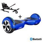 Pack Hoverboard 6,5 LED Bleu+ Hoverkart Noir