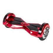 Hoverboard 8 Pouces Chromé Rouge Bluetooth+ sac de transport+ télécommande