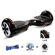 Hoverboard  6,5 Pouces LED Noir avec Bluetooth sac de transport et télécommande