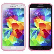 Coque Galaxy S5 transparente teintée couleur - Rose