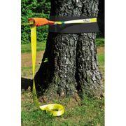 Hudora - Slackline Avec Protection D'arbre - Sangle D'équilibre - Jaune