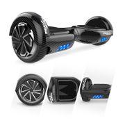 Mega Motion Hoverboard Gyropode bluetooth 6.5 pouces classique, Overboard certifié E2 noir carbon