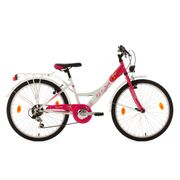 Vélo enfant 24'' Cherry Heart blanc-rose TC 36 cm KS Cycling
