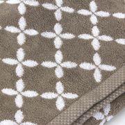 Drap de douche 70x140 cm SHIBORI floral Beige 100% coton 500 g/m2