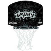 Spalding San Antonio Spurs Noir Panier Intérieur Basketball