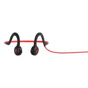 Écouteurs avec microphone AfterShokz Sportz Titanium rouge